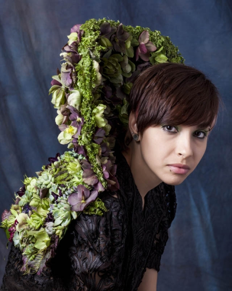 botanical collar with hellebore and texture,3  Francoise Weeks