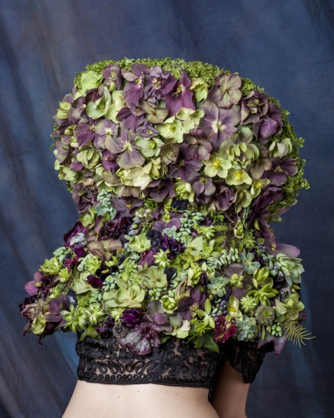botanical collar with hellebore and texture,4  Francoise Weeks