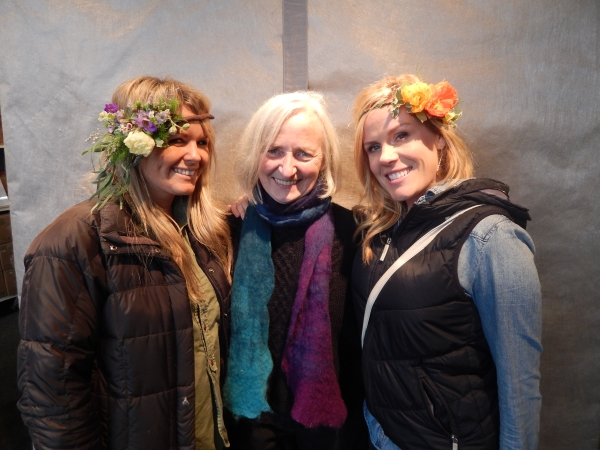 flower crowns dedigned by Jill Laundry and Shawna Chaffee-Havenga, wedding workshop Vermont, Francoise Weeks