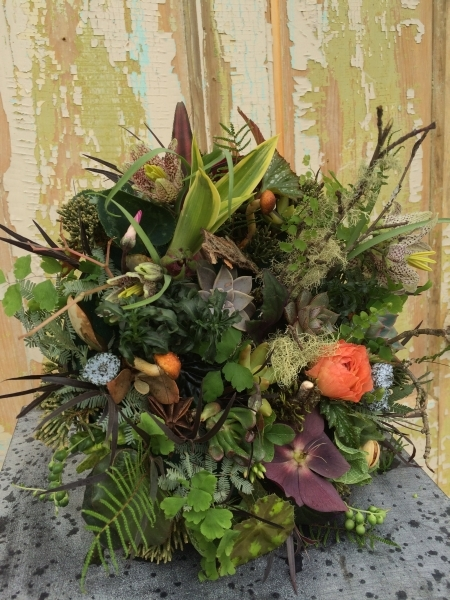 woodland bouquet  designed by Meredith Clayton, wedding workshop Vermont, Francoise Weeks