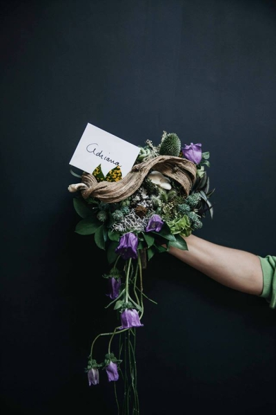 woodland bouquet, student's work 8, workshop Mexico Ciry February 2015, Françoise Weeks