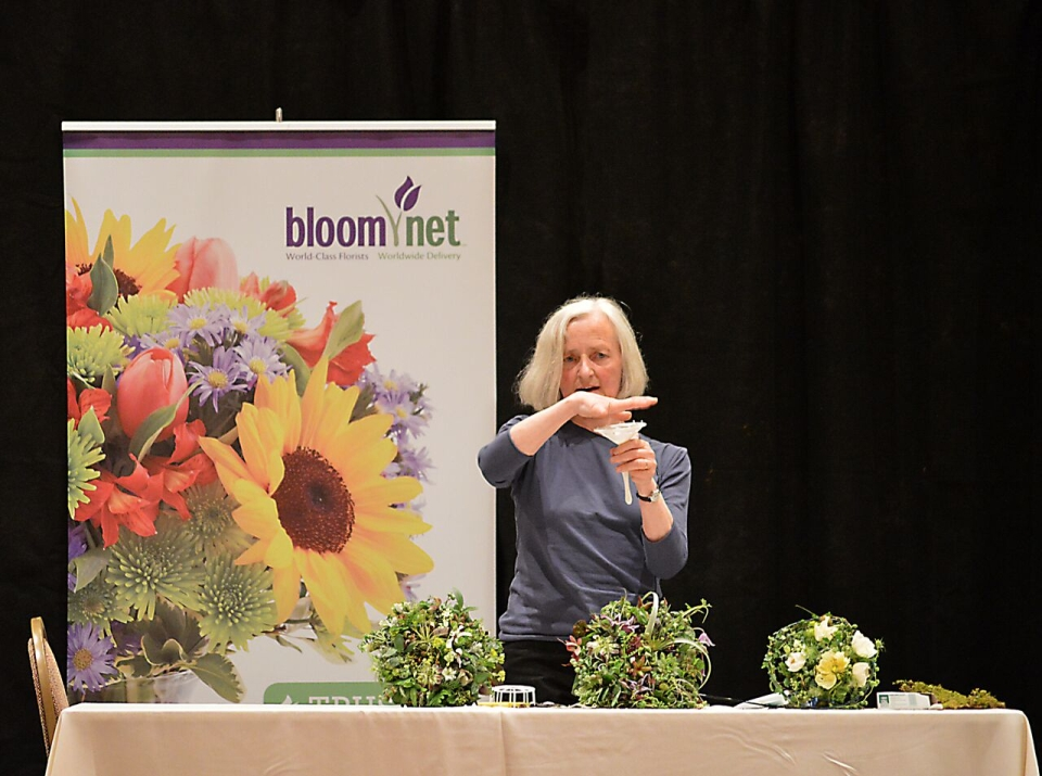 Bouquets for demo at FSFA June 2015, Francoise Weeks