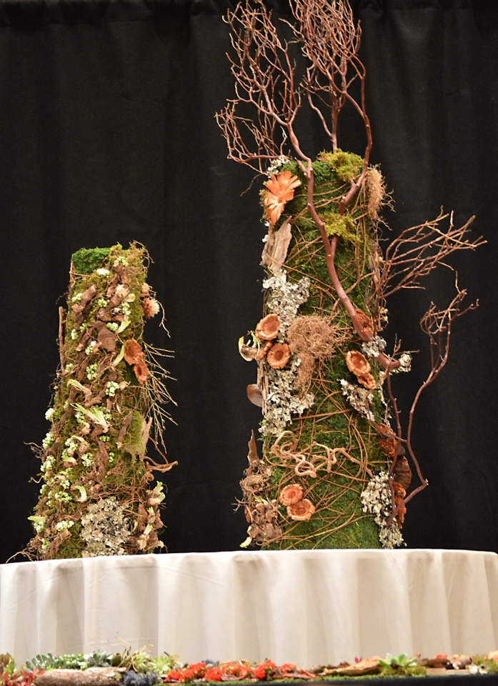 Woodland towers designd by Jo Jarvis for demo at FSFA June 2015, Francoise Weeks