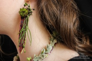 botanical earrings, succulents and textures, Francoise Weeks