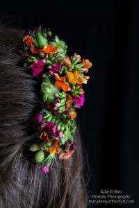 botanical hair comb, kalanchoe, succulents and textures, Francoise Weeks