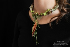 choker with succulents and texture, Francoise Weeks
