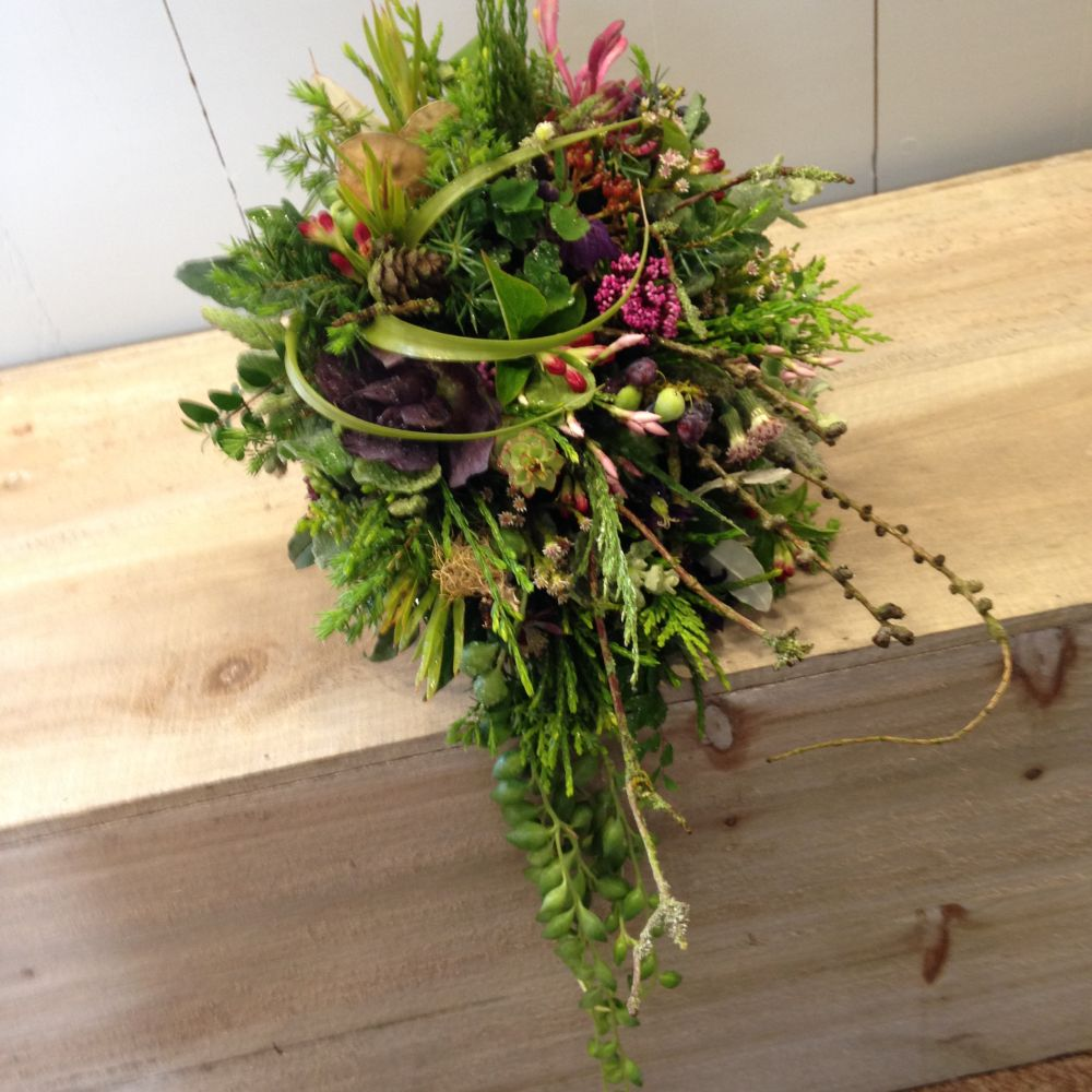 woodland bouquet - design by student 3  - workshop in Bury St Edmunds, England, Francoise Weeks