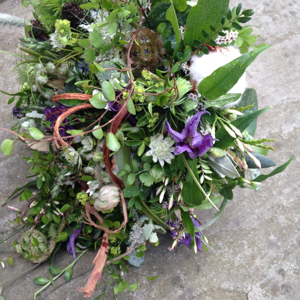 woodland bouquet - design by student - workshop in Bury St Edmunds, England, Francoise Weeks