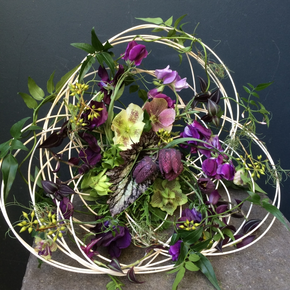 structural bouquet with midelino sticks, Francoise Weeks