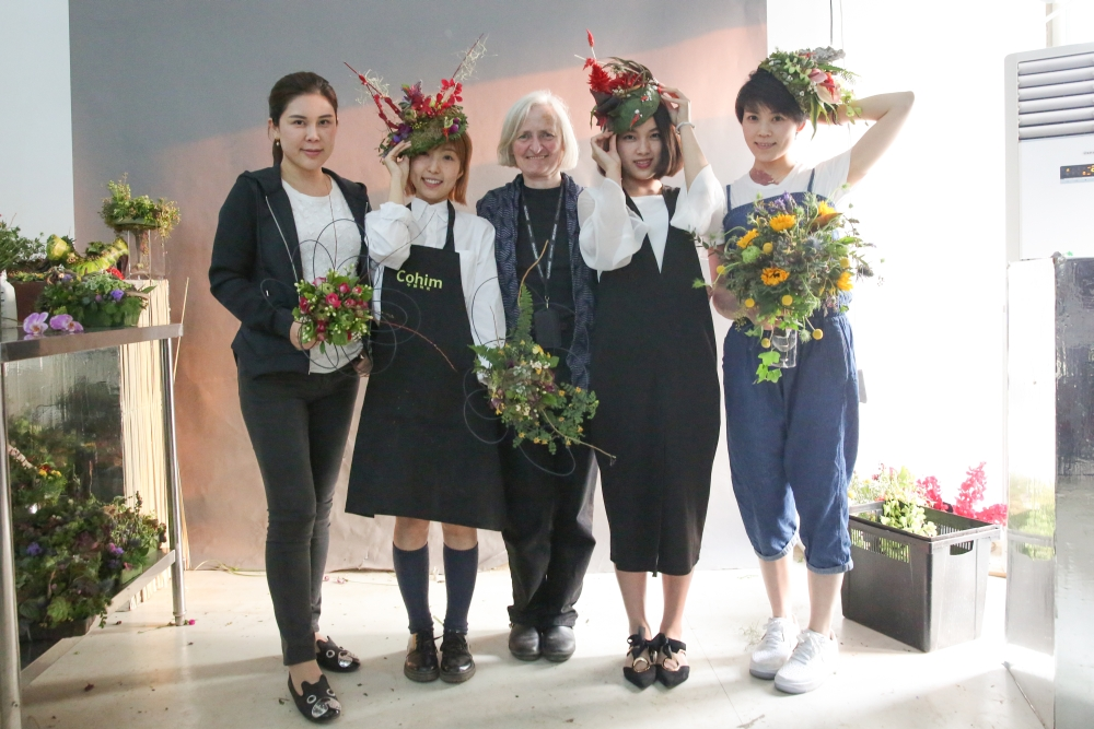 botanical headpieces designed by students, workshop at Cohim , April 2016