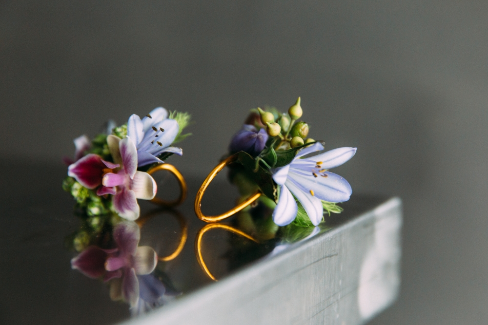botanical jewelry designed by student 1, workshop at Cohim , April 2016