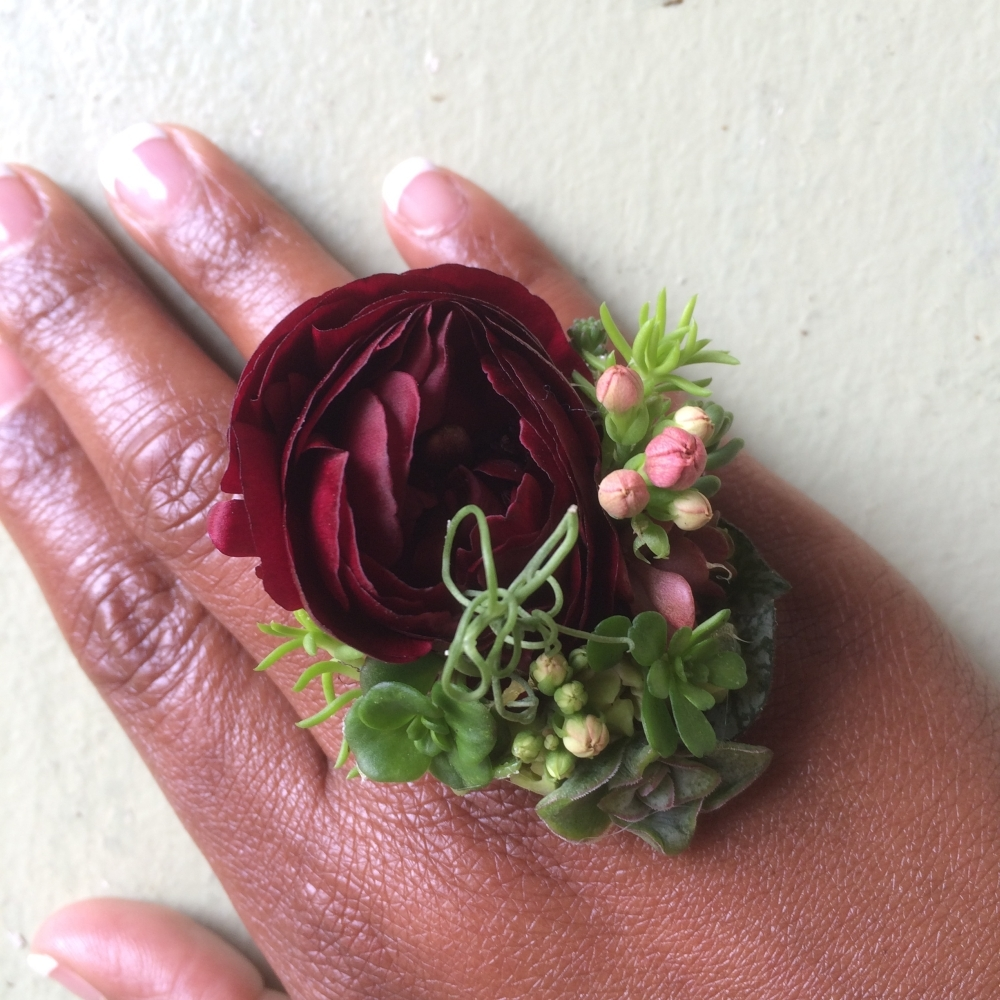 botanical ring, Francoise Weeks, workshop Mayesh March 2016