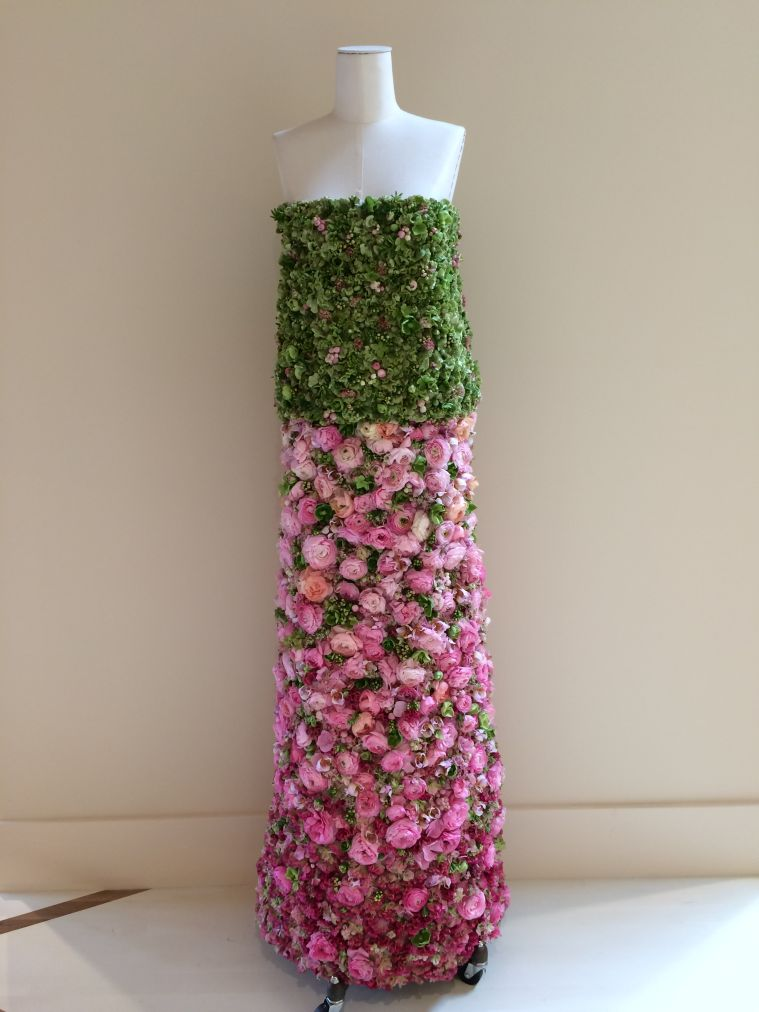 botanical dress for event in Chicago, Francoise Weeks