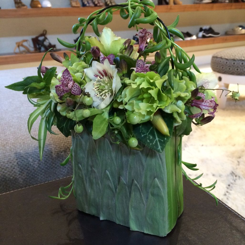 botanical purse for event in Chicago, Francoise Weeks
