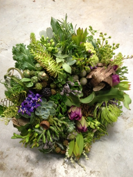 Woodland Bouquet with Spring Flowers