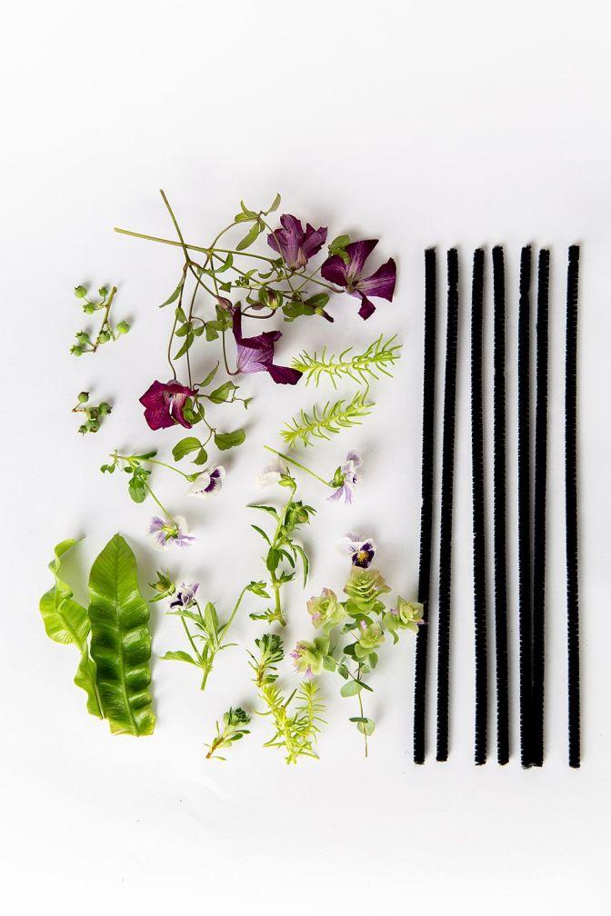 Flower Fascinator Clip Floral Pipe Cleaner Fascinator
